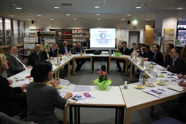Empfang der Delegation in der Gesamtschule Gießen Ost
