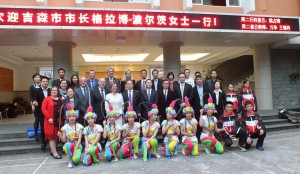 Die Delegation beim Besuch der Foreign Language School