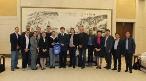 Gespräch an der Wenzhou Universität mit Präsidenten Herrn Yang Wei